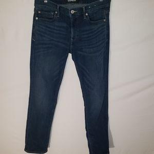 Express skinny size 10R blue jeans